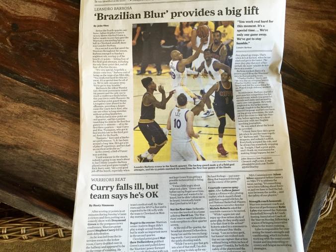 Começar a semana com um brasileiro arrasando na final da NBA, nano tem preço